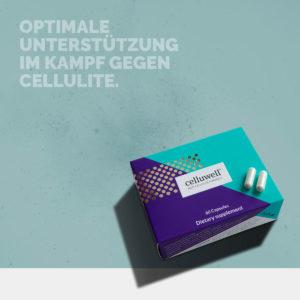 celluwell cellulite kapseln monatspackung produktfoto